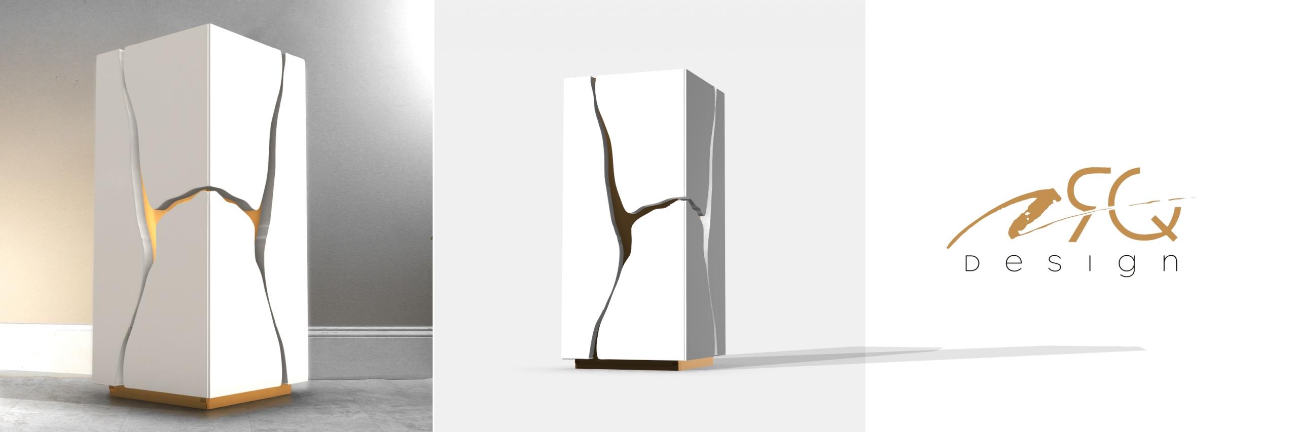 Modern broken gold pedestal