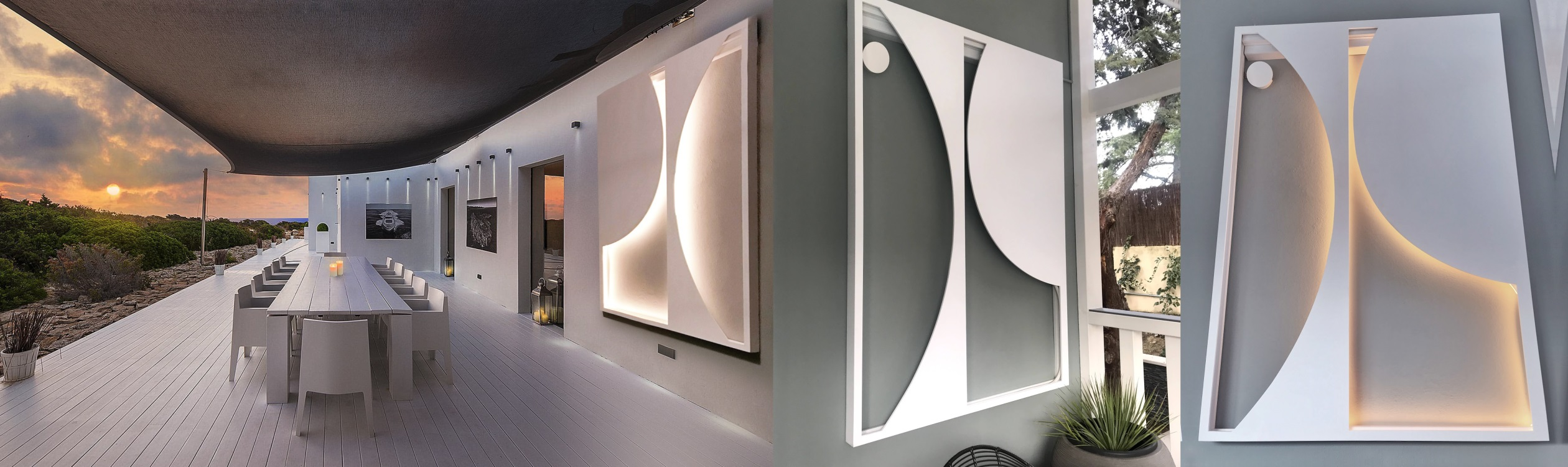 Eclipse lamp ARQ Design Box Exterior Lamp HUE Desktop